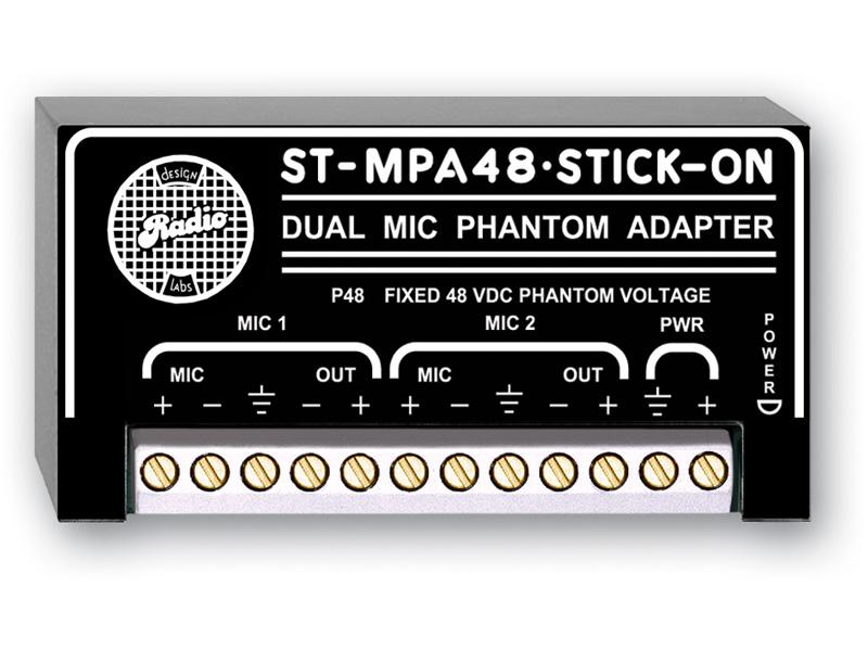 ST-MPA48 ‐ Dual Microphone Phantom Adapter - 48 V